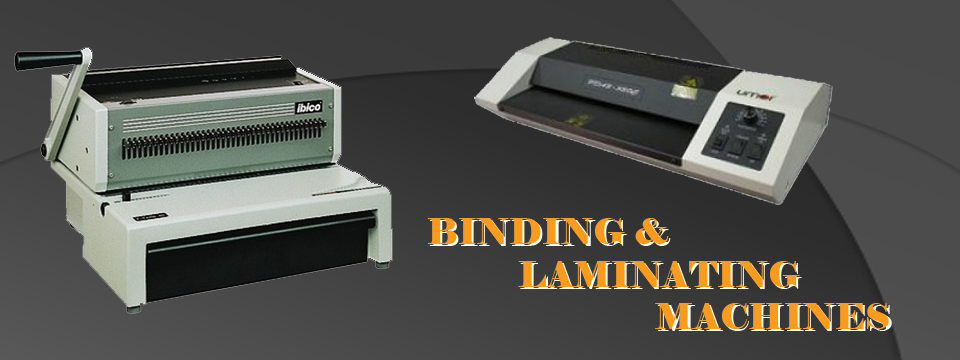 BINDING-LAMINATING-MACHINES